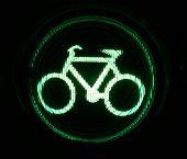 Green Traffic Light For Bikers