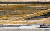 wooden boards in storage