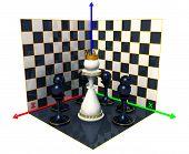 Axes Of The Coordinates, Chess Queen