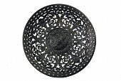 Ancient Metal Dish On A White Background
