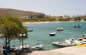 Harbor And Beach Pollonia Milos Cyclades Greek Island Greece