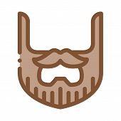 Beard Mustache Whisker Icon Vector. Outline Beard Mustache Whisker Sign. Isolated Contour Symbol Ill poster