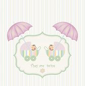 Twins Shower Announcement