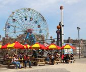 The Nathan's reopened after damage by Hurricane Sandy at Coney Island Boardwalk