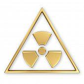 Radiation symbol on white