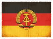 Grunge Flag Of The German Democratic Republic (ddr)