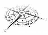 picture of longitude  - Black wind rose isolated on white - JPG