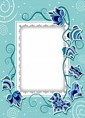 Decorative Card With Fancy Ivy