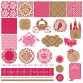 picture of princess crown  - Scrapbook Design Elements  - JPG