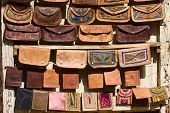 Handmade Bags In An Indian Market.