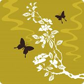 Floral Element  In Chinese Traditional Paper Cut Style