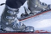 picture of ski boots  - Going to skiing - JPG