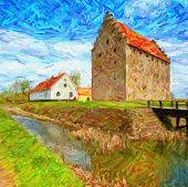 Glimmingehus Castle Painting