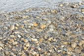 River Rocks And Water Background
