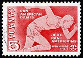 Postage Stamp Canada 1967 Runner, Pan-american Games