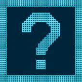 Question Mark Symbol On A Grid Digital Display