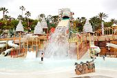 Tenerife Island, Spain - May 22: The Kids Playing In Water Attractions In Siam Waterpark On May 22,