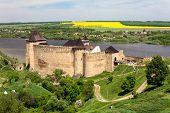Old Medieval Castle On Dniester Riverside In Khotyn, Ukraine