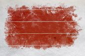 Red Wood With Scraped Snow Borders