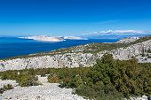Adriatic Sea and Krk Island, Croatiaa