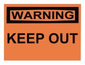 stock photo of osha  - OSHA keep out warning sign isolated on white - JPG