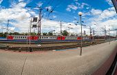 Nizhny Novgorod, Russia Platforms In Moskovsky Rail Terminal