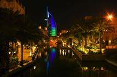 Dubai, Uae. Burj Al Arab Hotel With Arabic Architecture