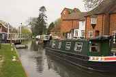 Green Canal Boat