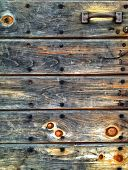 Barn door, detail.