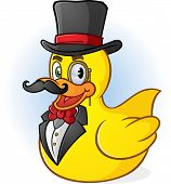 Rubber Duck Gentleman Cartoon Character