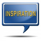 inspiration get inspired be creative create and invent brainstorm and inspire button or icon with te