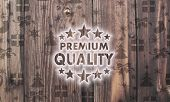 Wooden Premium Quality Label With Presents