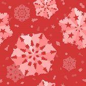 Seamless Xmas Snowflake Background