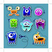 Monster collection, vector