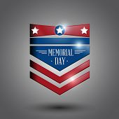 stock photo of memorial  - memorial day symbol gray background - JPG