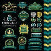 luxury label set