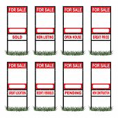 Real Estate For Sale Sign Tall