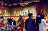 The Lucky cat (Maneki neko) statue shop