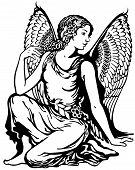 pic of virgo  - young woman with angel wings - JPG