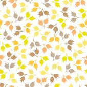 Vector Seamless Colorful Leaves Wall Background Pattern Design