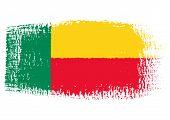 Brushstroke Flag Benin