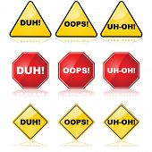 Mistake Signs