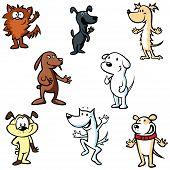 Dogs Illustration Cartoon