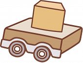 Vector illustration of a wagon