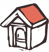Vector illustration of a doghouse