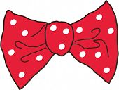 Vector illustration of a bow tie