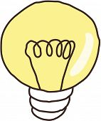 Vector illustration of a light bulb