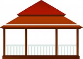 stock photo of gazebo  - Vector illustration of a gazebo - JPG