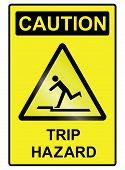 Trip hazard Sign