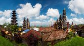 Panorama of Balinese temple Pura Besakih at sunny day, Bali, Indonesia